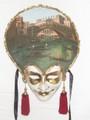 Carta Alta Oil Painted/Hand Painted Venetian Wall Mask  SKU: CA003