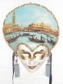 Carta Alta Oil Painting Venetian Masquerade Wall Mask  SKU: CA003