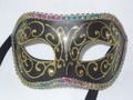 Colombina Black Brillantini Venetian Costume Mask  SKU: 001