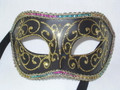 CLEARANCE! Colombina Black Brillantini Venetian Costume Mask  SKU: 001