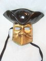 Gold Casanova Foglia Oro Venetian Mask. SKU 168fog