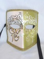 Green/Yellow Bauta New Lillo Venetian Mask. SKU: 116