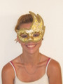 Gold Colombina Onda Acquario Venetian Mask SKU 038ag