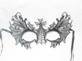 BLACK LASER CUT BAT VENETIAN HALLOWEEN MASK SKU: N 528