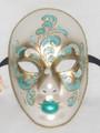 Green Volto Acquario Venetian Masquerade Mask SKU 430agr
