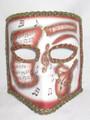 Copper Music Bauta Pergamena Venetian Masquerade Mask SKU 117pco