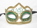 DEAL OF THE WEEK!! Green Colombina Punta Linea Venetian Masquerade Mask SKU P179-1