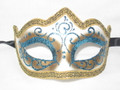 Light Blue Colombina Punta Linea Venetian Masquerade Mask SKU P179-1