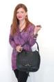 Dark Brown Leather Italian Luxury Handbag  Purse by Besso B14