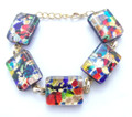 Multi Color Murano Glass Venetian Bracelet Jewelry SKU 24MG