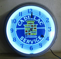 OLD NEON CLOCK CADILLAC