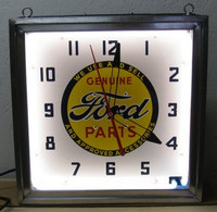 FORD NEON ADVERTISING CLOCK