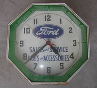 ORIGINAL FORD NEON CLOCK