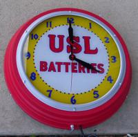 USL BATTERIES CLOCK