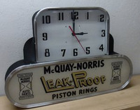 MCQUAY PISTONS LIGHTED CLOCK
