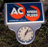 AC SPARK PLUGS LIGHTED CLOCK