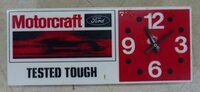 MOTORCRAFT FORD CLOCK