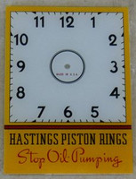 HASTINGS PISTON CLOCK GLASS