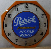 PEDRICK PISTON NEON CLOCK GLASS