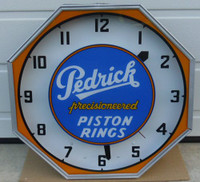 PEDRICK PISTON NEON CLOCK