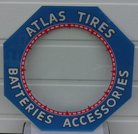 ATLAS TIRES HEXAGON CLOCK GLASS