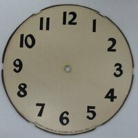 REPLACEMENT CLOCK FACE DECAL