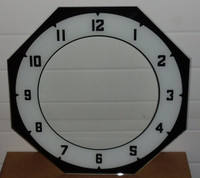 BLACK AND WHITE NUMBERED NEON CLOCK GLASS