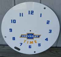 CHEVROLET TIME LACKNER NEON CLOCK FACE