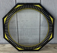 NPI SPINNER YELLOW  NEON CLOCK GLASS