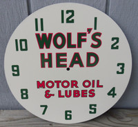 WOLF'S HEAD LACKNER NEON CLOCK FACE