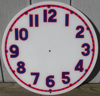 CLEVELAND LIGHT UP RED BLUE NEON CLOCK FACE