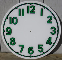 CLEVELAND LIGHT UP GREEN BLACK NEON CLOCK FACE