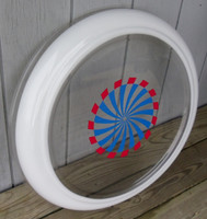 CLEVELAND RED BLUE PINWHEEL SPINNER BUBBLE