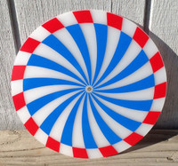 CLEVELAND RED BLUE SPINNER CLOCK DISK