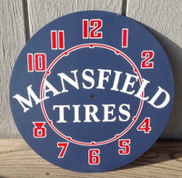 MANSFIELD TIRES NEON CLOCK FACE