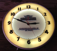 OLSDMOBILE ADVERTISING NEON CLOCK