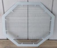 NPI GRAY HEXAGON NEON CLOCK GLASS