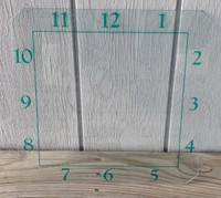 GREEN API NUMBERED CLOCK GLASS