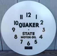 QUAKER STATE NEON CLOCK FACE NEOCRAFT