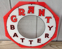 GRANT BATTERY NEON PRODUCTS CLOCK GLASS