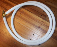 "8 FT CLOTH GAS PUMP HOSE 1"" BRASS ENDS"