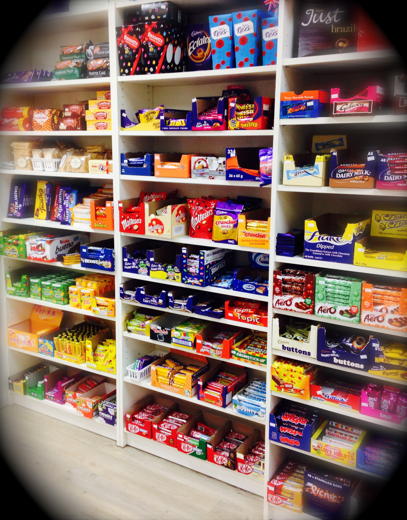 The Queen's Pantry Wall of Chocolate