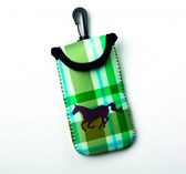 Green Plaid Cell Phone Case