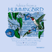 Advice from a Hummingbird t-shirt*