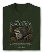 Advice from a Raccoon t-shirt*