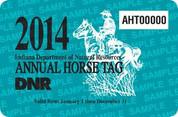 2014 Annual Horse Tag (permit)