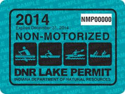 2014 NON-motorized lake permit