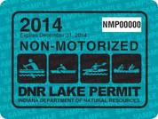 2014 NON-motorized lake permit