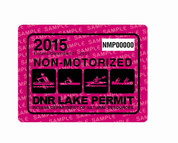 2015 Non-Motorized Lake Permit