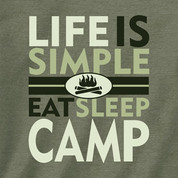 Life is Simple- Eat, Sleep, Camp*